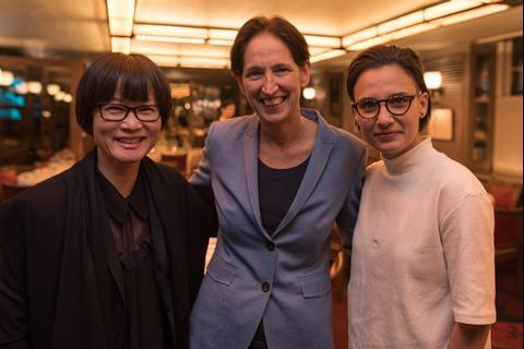 So Yong Kim director of Lovesong Briony Hanson British Council and Chloe Robichaud director of Boundaries